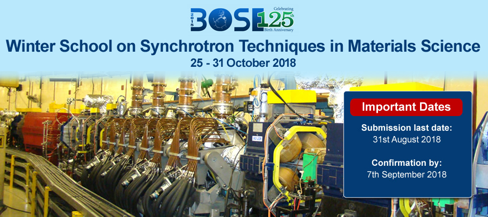 Winter School on Synchrotron Techniques in Materials Science