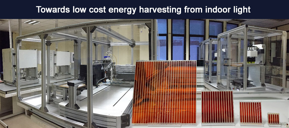 Towards low cost energy harvesting from indoor light