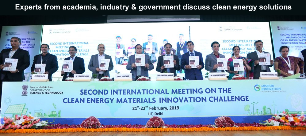 Experts from academia, industry & government discuss clean energy solutions