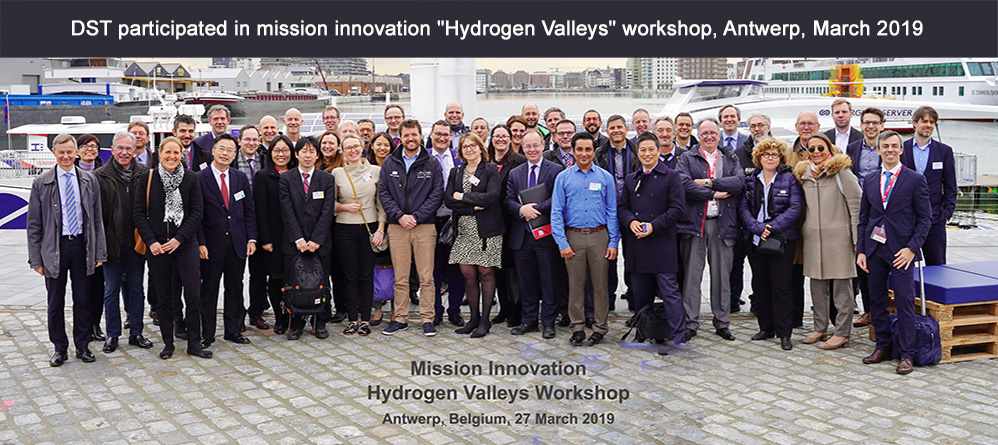 DST participates in Mission Innovation workshop on hydrogen in energy transition