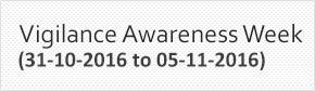 Vigilance Awareness Week 2016