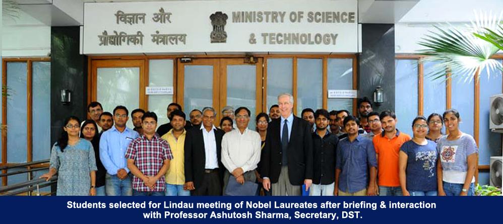Secretary DST Prof. Ashustosh Sharma interacting with students