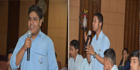 Students of Navyug School, New Delhi, during an Interactive Session on Clean Energy