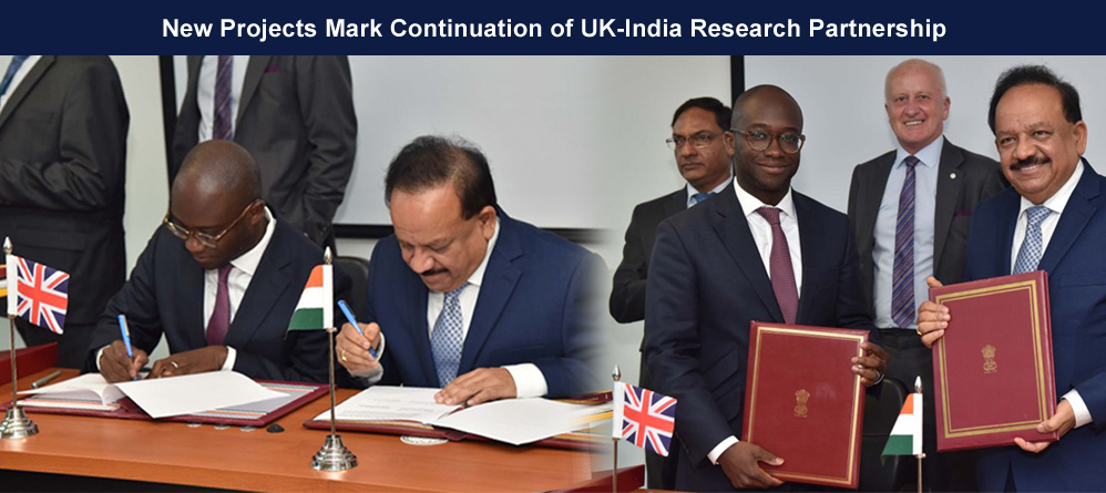 New projects mark continuation of UK-India research partnership