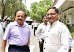 Secretary DST welcomes Hon'ble Minister for Science & Technology and ES on DST Foundation Day (03.05.2018)