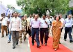Hon'ble Minister being taken to venue of Foundation Stone Laying Ceremony for New State of Art Building of DST