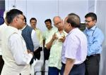 Hon'ble Minister in conversation with Secretary DST and Others