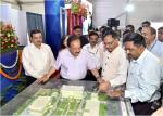 Hon'ble Minister for Science & Technology and Earth Sciences inspecting the Model of Proposed New State of Art Building of DST on DST Foundation Day