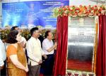 Hon'ble Minister for Science & Technology and Earth Sciences unveiling the Foundation Plaque on DST Foundation Day on 03.05.2018