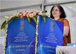 JS (Admn.), DST addressing the gathering on Foundation Stone Laying Ceremony