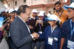Hon'ble Minister for S&T & ES Dr. Harsh Vardhan talk with students in Science Village at IISF 2016