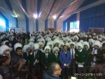 Hon'ble Minister of S&T &ES Dr Harsh Vardhan with 550 school students dressed up as Albert Einstein at IISF 2016