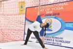 DEMONSTRATION OF YOGIC MUDRA BY MS. SHVETIKA KAUL, MORARJI DESAI NATIONAL INSTITUTE OF YOGA BEFORE PARTICIPANTS DURING YOGA SESSION ON 21ST JUNE, 2018 AT DST PREMISES