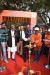 Prof. Ashutosh Sharma, Secretary DST, lightning the lamp at inauguration of 6th National Level Exhibition & Project Competition at IISF 2016
