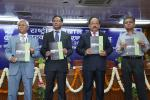 Hon'ble Minister Dr. Harsh Vardhan along with Secretary DST, Head (NCSTC Division) and Head (NEB Division) releasing NCSTC Booklet during NSD - 2016