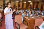 Dr. Malini Balakrishnan, Senior Fellow (TERI), New Delhi during an Interactive Session with students of Chinmaya Vidyalaya, New Delhi