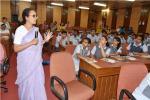Dr. Malini Balakrishnan, Senior Fellow (TERI), New Delhi during an Interactive Session with students of Chinmaya Vidyalaya, New Delhi