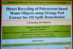Expert Talk-01 by Dr. Chandra Shekar Sharma from IIT Hyd,  on the Technology developed for Recycling of Polystyrene Waste, presented during the Swacchta Packwada Program  arranged at Technology Bhawan, DST on May 1st, 2018