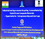 Expert Talk-03 by Dr. Asokan Pappu from CSIR-AMPRI,  on the Technology: Hybrid Green Composite Material  made out of Agricultural and other Industrial Waste,  in the Swacchta Packwada Program  arranged at Technology Bhawan, DST on May 2nd, 2018