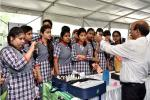 Students of Kendriya Vidhyalay, R.K. Puram, New Delhi in Exhibition Pevilion