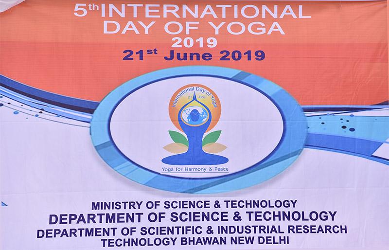 International Day of Yoga 2019 - Technology Bhawan
